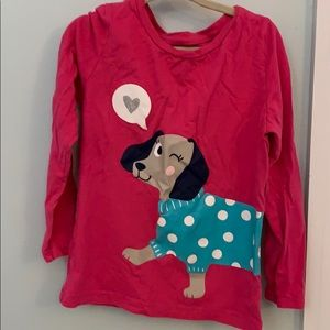 Worn only once! Carters girls long sleeve dog tee